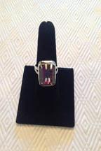 Mystic Quartz ring set in sterling silver